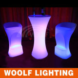 LED 옥외 당 둥근 탁자 및 의자