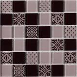 Caliente venta de mosaico de vidrio blanco piso de azulejos