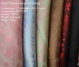 Tela Poliester-Viscosa del telar jacquar para las guarniciones de la ropa (JVP6338)