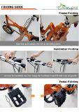E-Bici plegable del acero de carbón de 14 pulgadas con 7 velocidades