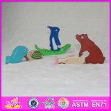 2017 Vente en gros d'écouteurs en bois pour animaux, puzzles de jouets drôles pour animaux en bois, puzzles en bois W14A158