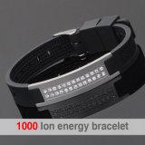 Doppia riga braccialetto di cristallo di energia con lo ione negativo (20004)