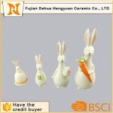 Coniglio animale di ceramica di Pasqua della statua per la decorazione del giardino