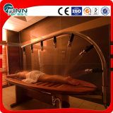 Douche d'eau en acier inoxydable Lit de massage en bois en SPA