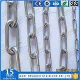 Eslabón de la cadena de transporte de acero inoxidable de la cadena de ancla