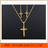 Bijou d'acier inoxydable trois parties de personnalité de mode cloutées avec le collier (SSNL2648)