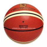 銘柄の薄板にされた合成の革バスケットボール
