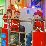 Caminhão de bombeiros elétrico para o parque de diversões