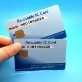 Cartão chave do hotel esperto do contato de RFID Sle5542 para o controle de acesso