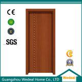 Porte en bois de forces de défense principale et de PVC d'intérieur pour l'usage de Chambre/pièce