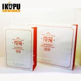 Promocional Impresión personalizada de papel Kraft Compras Embalaje Carrier Gift Bags para embalaje con manijas