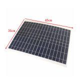 panneau solaire flexible de silicium polycristallin de 20W 12V