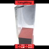 Plattform-Kasino-Grad-Acrylausschuss-Halter des Dreieck-Schürhaken-Händler-Kasten-8 mit Oberseite für Baccarat-Kasino-Spiele Ym-Dh02