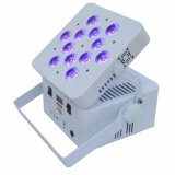 Hot vender DJ Slim PAR Luz Superior DMX Inalámbrico Recargable Powered 6en1 12pzas Luz PAR LED DMX PAR RGBWA Wireless LED UV