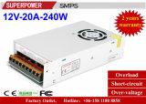 Alimentazione elettrica di commutazione di video di obbligazione del driver 12V 20A 250W del LED con il ventilatore
