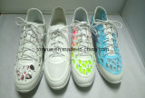 Falt 지상 고무 Outsole를 가진 Drop Rubber Sneaker Shoes 숙녀