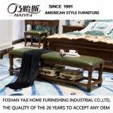 Banco de madera sólida de la cama del estilo americano para los muebles As833 del dormitorio