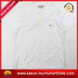 100% قطن أبيض [ت] قميص مع عادة علامة تجاريّة ([إس3052501ما])