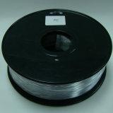 까만 PC 필라멘트 플라스틱 3D 인쇄 기계 필라멘트 1.75mm