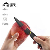 """4 """"中国の専門家の製造所からの黒い陶磁器のフルーツのナイフ"""