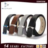 China-Riemen-Artechte schwarze Brown-Rindleder-Leder-Metallfaltenbildung-Riemen
