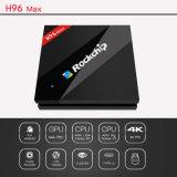 Großhandels-Auflösung Kodi der CPU-Rk3399 H96 IPTV Unterstützungs4k*2k androider Fernsehapparat-Kasten
