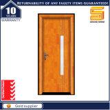 Porte coupe-feu extérieure en bois solide d'intérieur fait sur commande avec la glace