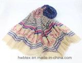 Madame Scarf (HWBPS112) de polyester d'impression d'attache de Handfeel de coton de mode
