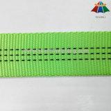 tessitura tubolare di nylon del poliestere di verde di calce di 25mm con un filetto dei 3 elementi traccianti