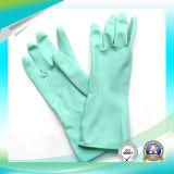 Guantes de látex impermeables de trabajo de trabajo azul anti ácido