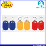 ドアロックのための125kHz T5577のABS RFID Keytag/Keychain/Keyfob