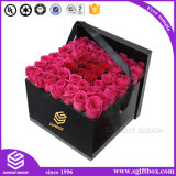 Embalagem de papel de papelão personalizado de luxo Caixa redonda de flores
