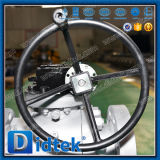 Didtek Class1500 기어 박스를 가진 고압 Rtj 플랜지 포이 공 벨브