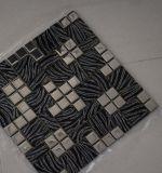 Schwarzes Glasmosaik mit Weiß Veins Mischmetall für Hauptdekoration