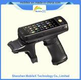 Lecteur de RFID de fréquence ultra-haute, IP64 PDA raboteux, SYSTÈME D'EXPLOITATION androïde, PDA industriel