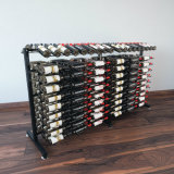 Rack de vinil de metal Rack de fio preto com estante de exibição de ilha