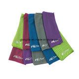 新式Microfiberの体操のスポーツのジッパーのポケットタオルをカスタム設計しなさい