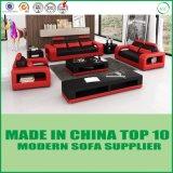 Jeu moderne de sofa de cuir de maison de meubles