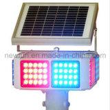 Les quatre côtés Solar LED clignotant Témoin de trafic léger