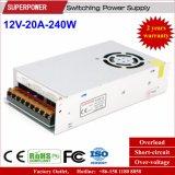alimentazione elettrica di commutazione della stampante di 12V 20A 250W 3D