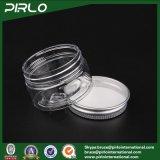 recipiente di plastica facciale della mascherina dell'animale domestico 20g del vaso di pelle della crema di plastica trasparente di cura con il vaso di plastica crema cosmetico del coperchio di alluminio