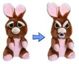 변하기 쉬워 마스크를 가진 견면 벨벳 박제 동물 장난감