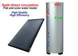 Split calentador de agua solar con colectores solares de placa plana y depósito de agua presurizada en bucle abierto o Indirected dirigido circulaciones de bucle cerrado