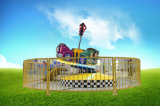 La vettura da corsa di velocità eccellente gira intorno i giri di divertimento per il parco di divertimenti