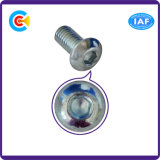 Vite di protezione galvanizzata M10 dello zoccolo di esagono della testa della vaschetta del carbonio Steel/4.8/8.8/10.9