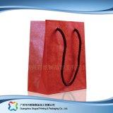 Sac de transporteur de empaquetage estampé de papier pour les vêtements de cadeau d'achats (XC-bgg-052)