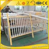 Usine de la série 6000 d'alimentation en aluminium extrudé profil plat en aluminium pour la clôture de clôture