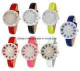 Las niñas elegante reloj de cristal de acero inoxidable