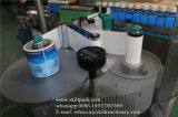 Машина для прикрепления этикеток стикера чонсервных банк автоматических брызг круглая