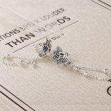 925 de echte Zilveren Lange Oorring van de Leeswijzer van de Pauw voor Oorringen van de Juwelen van Vrouwen de Uitstekende Gesneden Dierlijke